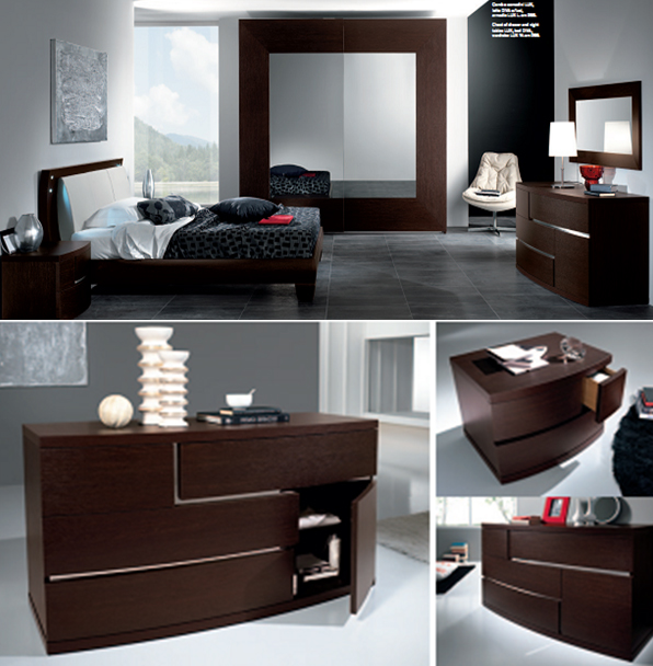 Кровать Pacifico Letto Diva c/luci led